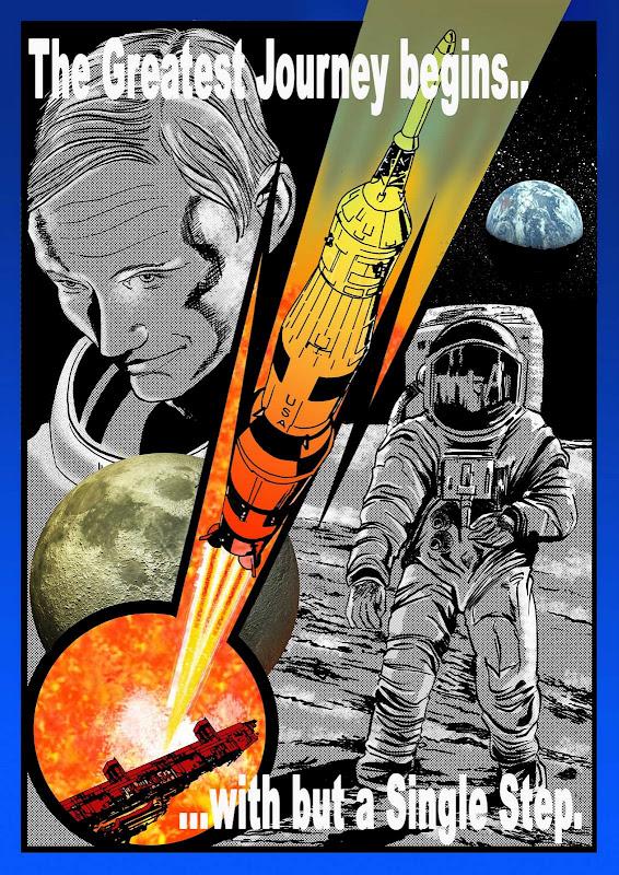 Bill Storie Moon Landing Art