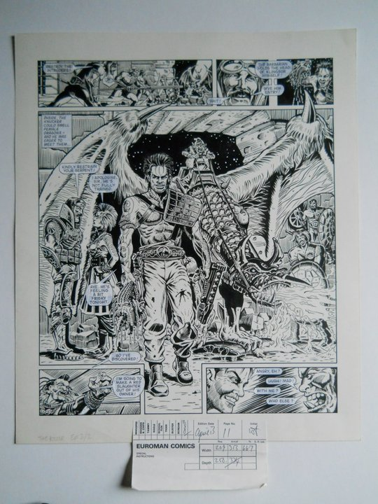 """A page from """" Slaine: Time Killer"""", art by David Pugh"""