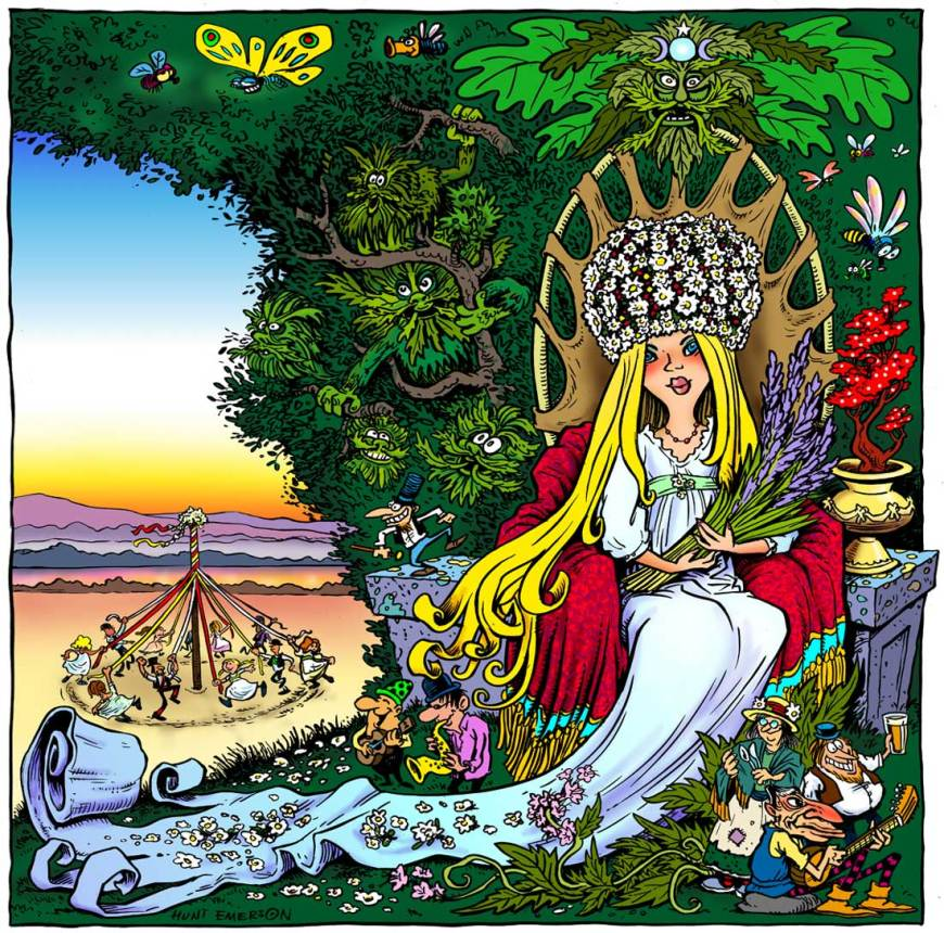 "Artwork by Hunt Emerson to illustrate ""Josephine"", a track performed by Hunt and Stately Homes of England (aka Billy Milk and White Glove)"