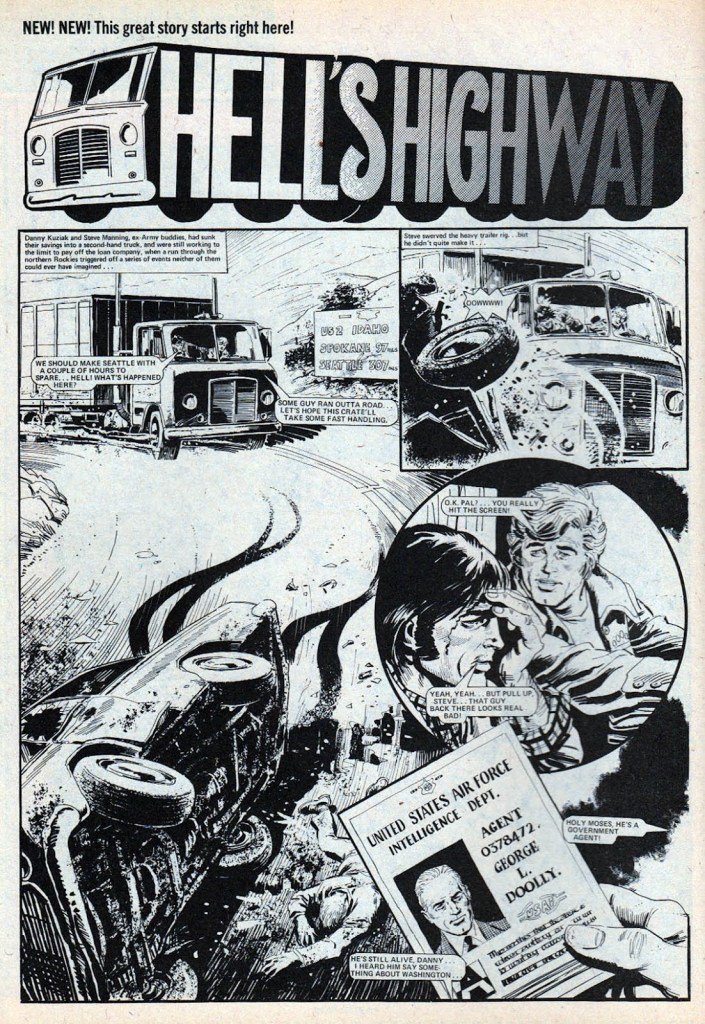 """""""Hell's Highway"""", from Action - art by Mike White"""