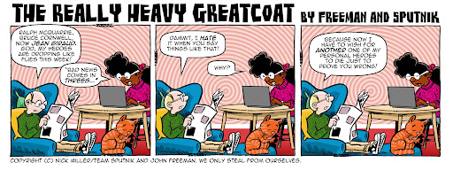 The Really Heavy Greatcoat: Death Comes in Threes