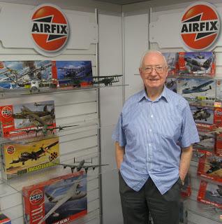 Airfix artist Roy Cross in 2011