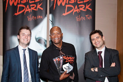 Neil Gibson (right) with actor Samuel L. Jackson