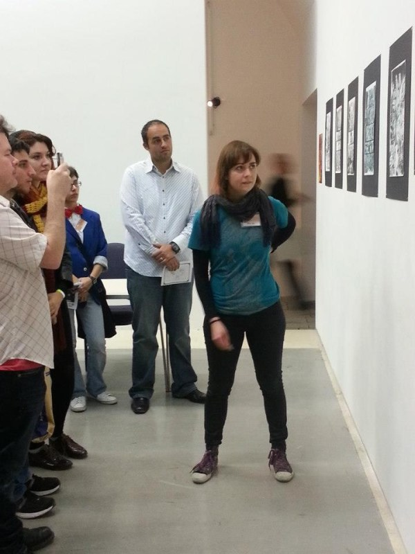 Artist Emma Ríos delivers a Guided Tour of her exhibition. Photo courtesy Malta Comic Con