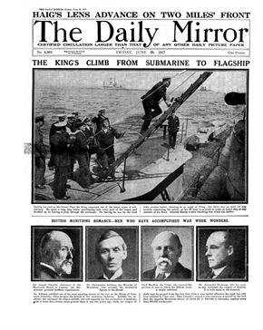 Daily Mirror, 29th June 1917 - Cover