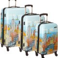 Samsonite Cityscapes Suitcases - art by Darryl Cunningham