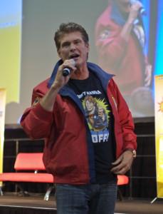 David Hasselhoff at Supanova in Sydney, Austraiia.