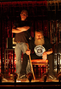 Mitch Jenkins and Alan Moore. Photo: Lex Projects