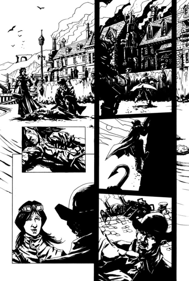 An interiror page from Arthur Shilling Issue One.