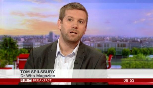 Doctor Who Magazine editor Tom Spilsbury on BBC Breakfast in 2013