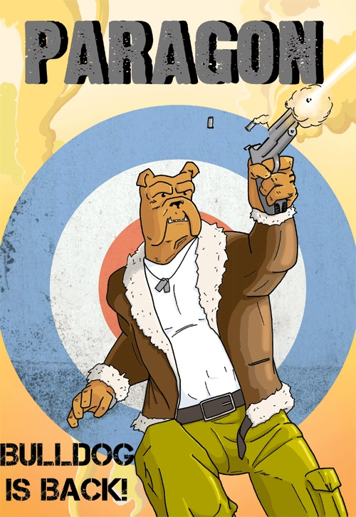 Captain Winston Bulldog arrives in Paragon Comic