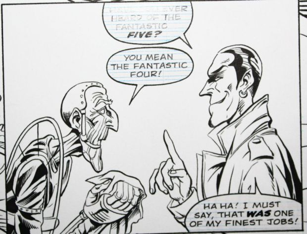 A panel from Motormouth versus Removal Man, written by Glenn Daken and drawn by Tim Perkins