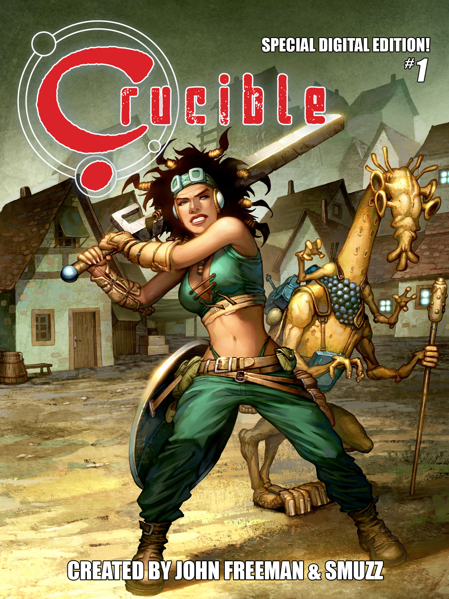Crucible Comic #1 available for Kindle, work in progress on #2