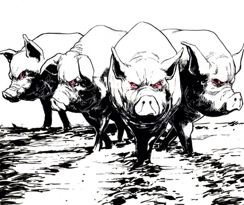 Sentient Zombie Space Pigs - Sample Panel