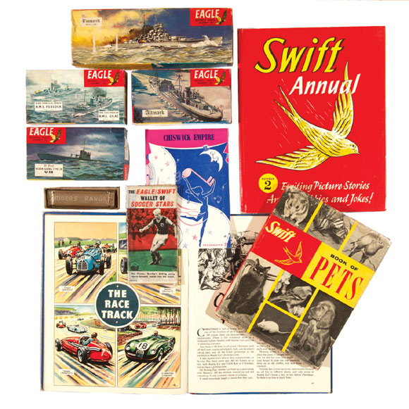 A selection of Eagle-related offerings in one lot that includes Eagle Warship kits features in the auction.