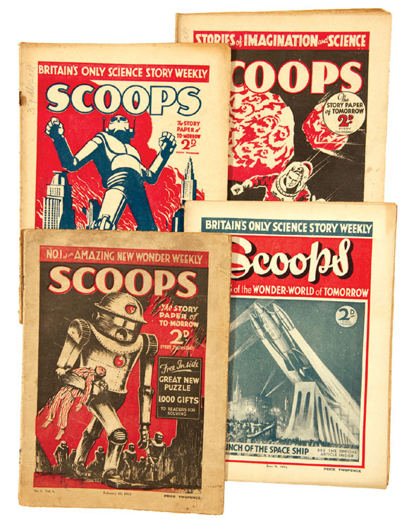 On offer: a complete run of Scoops, Britain's first science fiction weekly featuring Sir Arthur Conan Doyle's 'The Poison Belt' in issues 14-18.