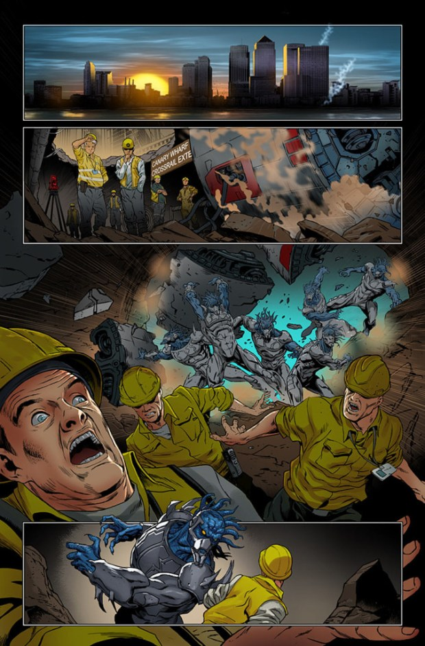 Revolutionary War: Alpha Preview Page 1. Art by Richard Elson © Marvel Comics
