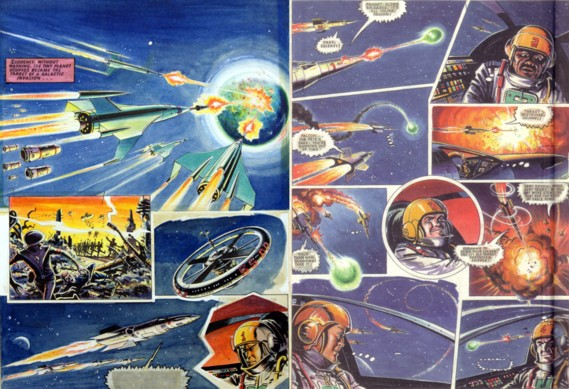 """""""Eagle Force"""" art by Joe Colquhoun for a planned Eagle revival in the 1970s"""