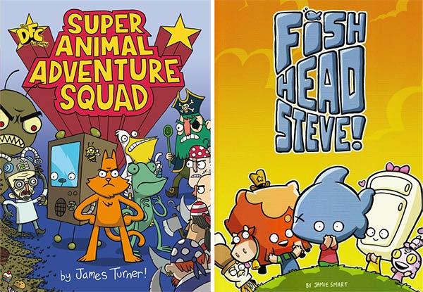 Sarah McIntyre's Christmas Present Picks - Super Animal Adventure Squad and Fish Head Steve
