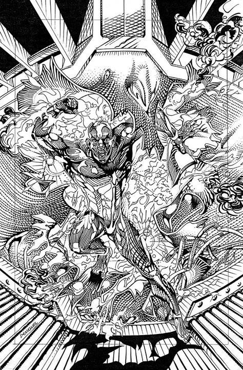 One of a handful of surviving images from a lost Marvel UK project, Warhide, crated by Banx and David Leach. Art by Carles Demiguel Bonilla.