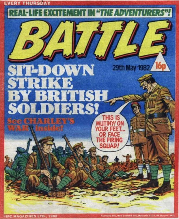 Rebellion in the ranks in Charley's War.