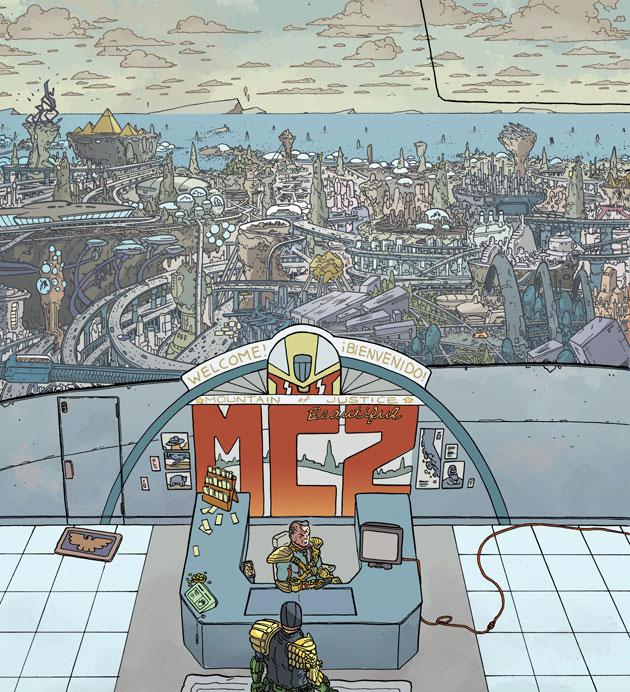 Judge Dredd - Mega City Two Panel