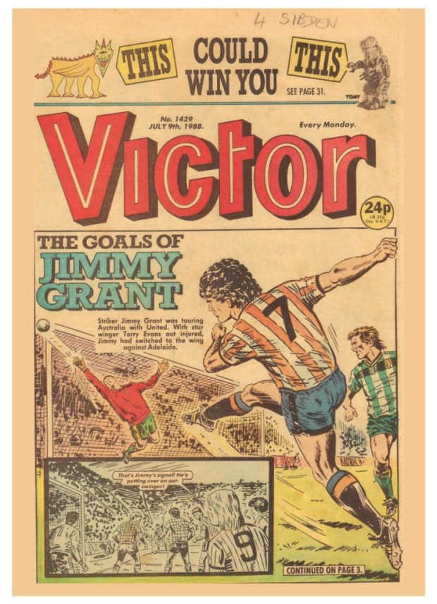 Tony Harding's cover for Victor, published in 1988