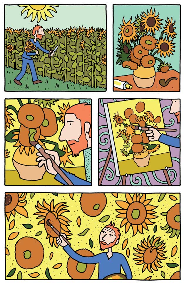 A page from the new graphic novel, Vincent, by Barbara Stok