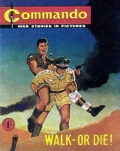 Commando #1, published in June 1961. Art by Ken Barr
