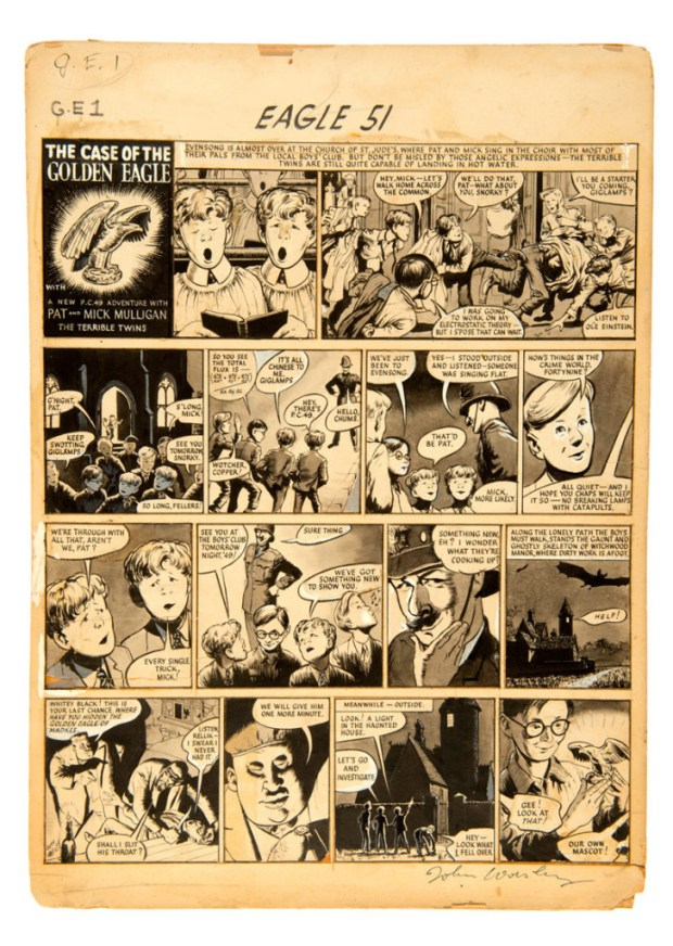 PC 49 original artwork from Eagle(1952), drawn and signed by John Worsley