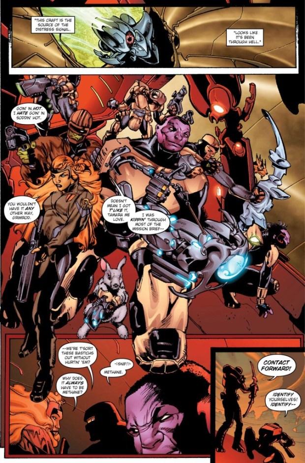 Alien Legion Uncivil War #1 Sample Page