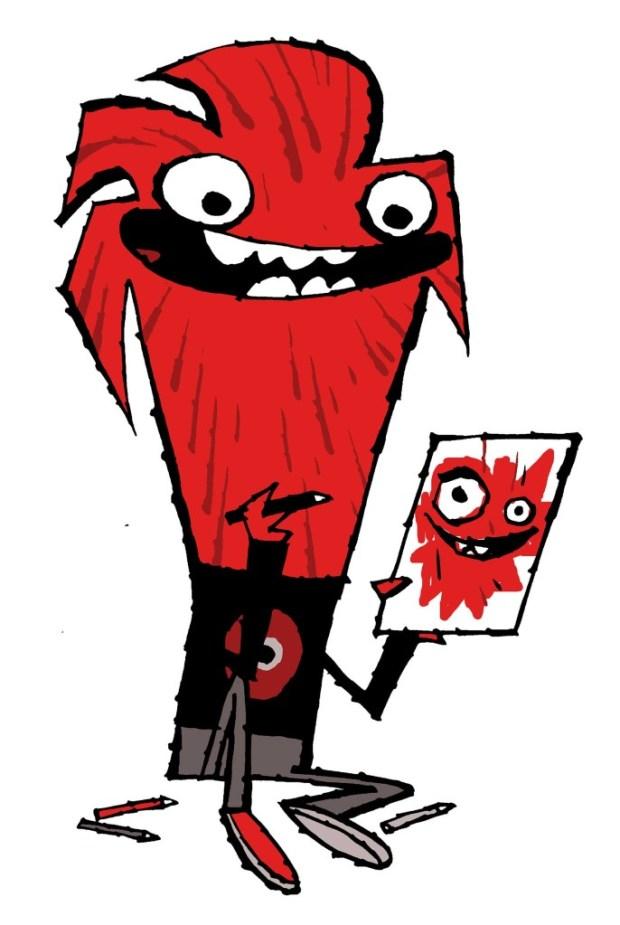 Poblin, the Lakes International Comic Art Festival Mascot