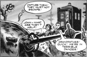 The Doctor confronts the Klepton Parasites in the first ever Tie-in comic strip based on the show, published in TV Comic in 1964.