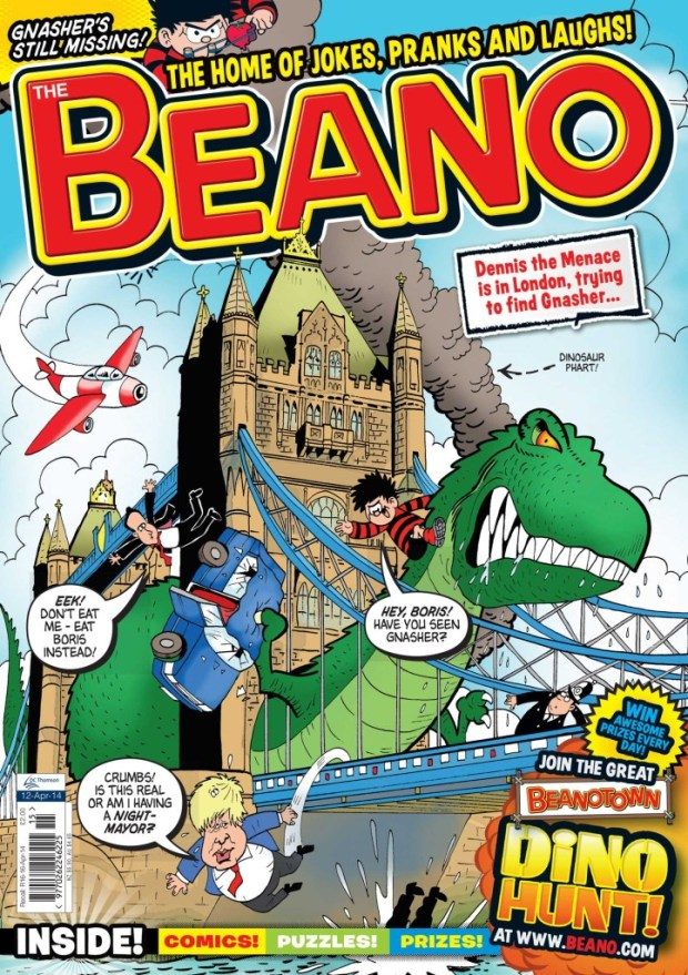 Cover of The Beano's 12th April 2014 issue © D.C. Thomson & Co. Ltd. 2014