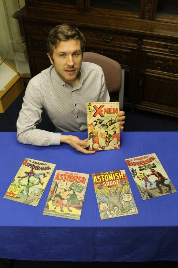 Tom Waldron of Cuttlestones with just a few examples from the comic collection