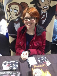 Kate Ashwin at Thought Bubble last year. Via Laydeez do Comics. (Kate stole this! Not me!)