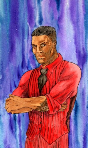 The Scarlet Star, the latest incarnation of DC Thomson's Red Star character. Art by Leonie Moore
