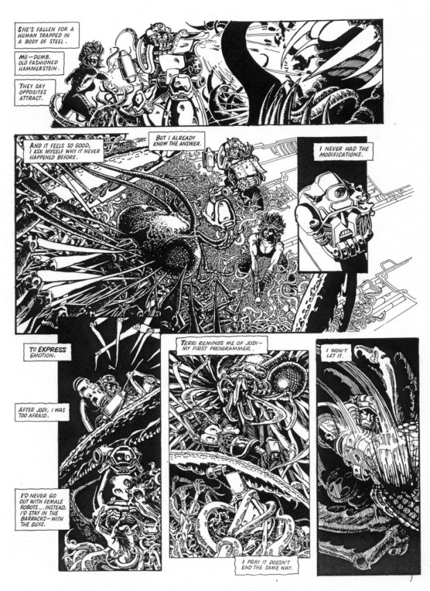 ABC Warrior art by Smuzz (SMS). © Rebellion