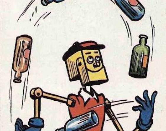 The robot schoolboy Brassneck, one of the late David Torrie's favourite Dandy characters. Image © DC Thomson