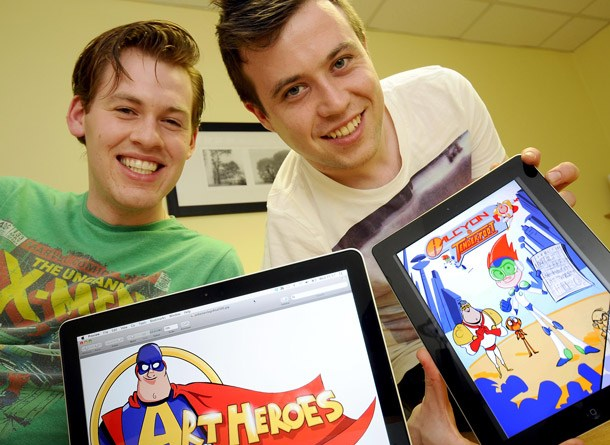 Daniel Clifford and Lee Robinson received advice from North East organisation TEDCO to set up Art heroes. Image: TEDCO