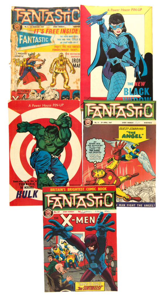 An entire run of Odhams Fantastic comic is among the lots