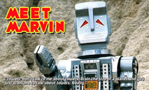 """BBC Marvin from """"The Hitch Hiker's Guide to the Galaxy"""" BBC TV series"""