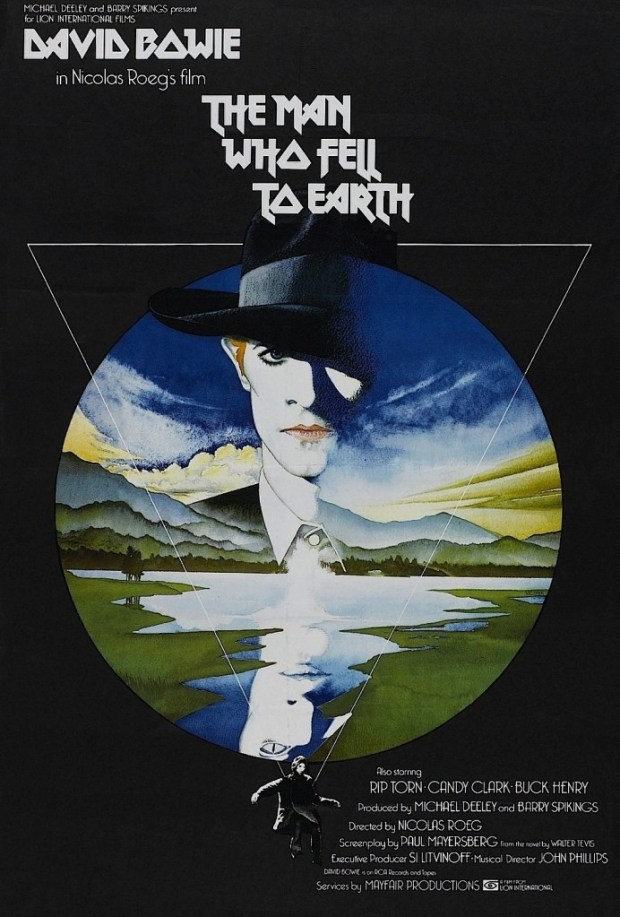 Allegedly, The typeface from the poster  for The Man Who Fell to Earth inspired the logo of the heavy metal band Iron Maiden.