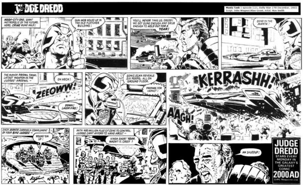 Judge Dredd Daily, 10th December 1983: Manta Tank