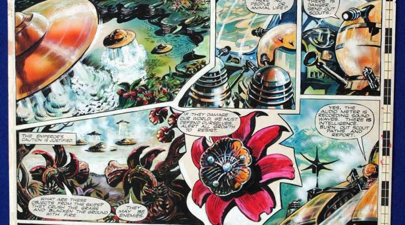 "This page from ""The Daleks"" featured in TV Century 21 Issue 19."