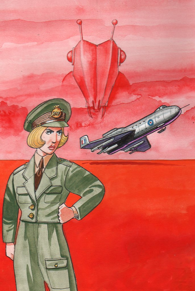 Charlotte Corday on Mars, a promotional image for Keith's latest project with Stephen Wa;sh, Cat Corday of the RSF. Art © Keith Page