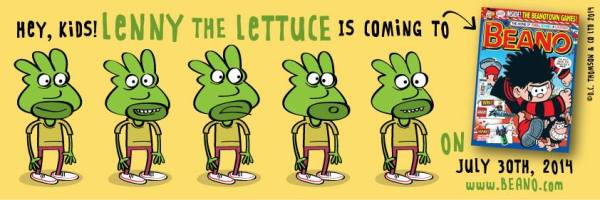 """""""Lenny the Lettuce by Marc Jackson - now appearing in The Beano. Art © 2014 DC Thomson"""
