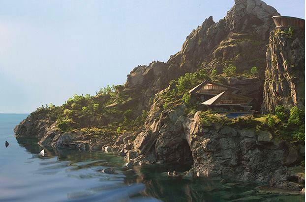 Tracy Island from Thunderbirds are Go.