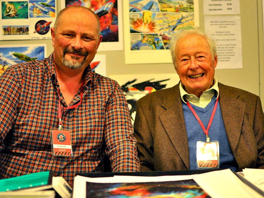 Lee Sullivan and Mike Noble at Andercon 2014. Photo courtesy Lee Sullivan.