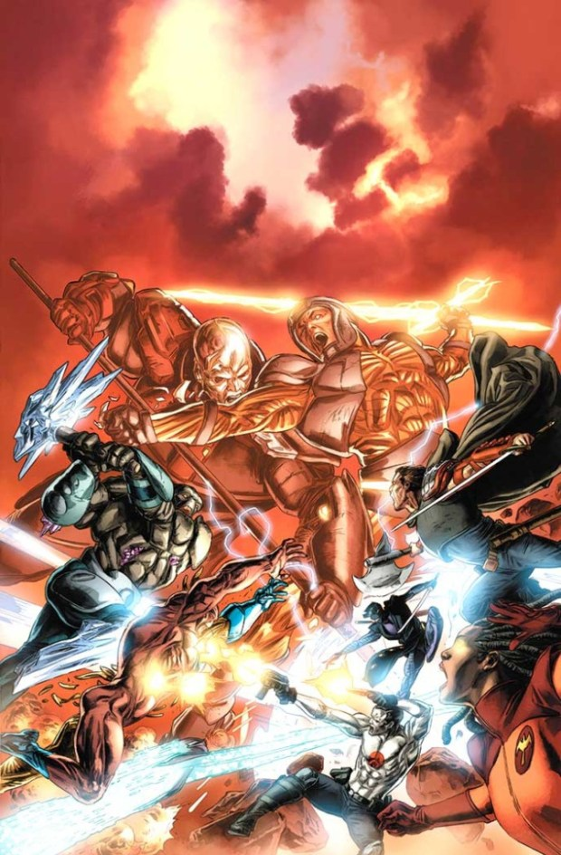 Doug's stunning cover for Armor Hunters #4.